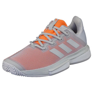 adidas Women's Solematch Bounce - Grey/Coral