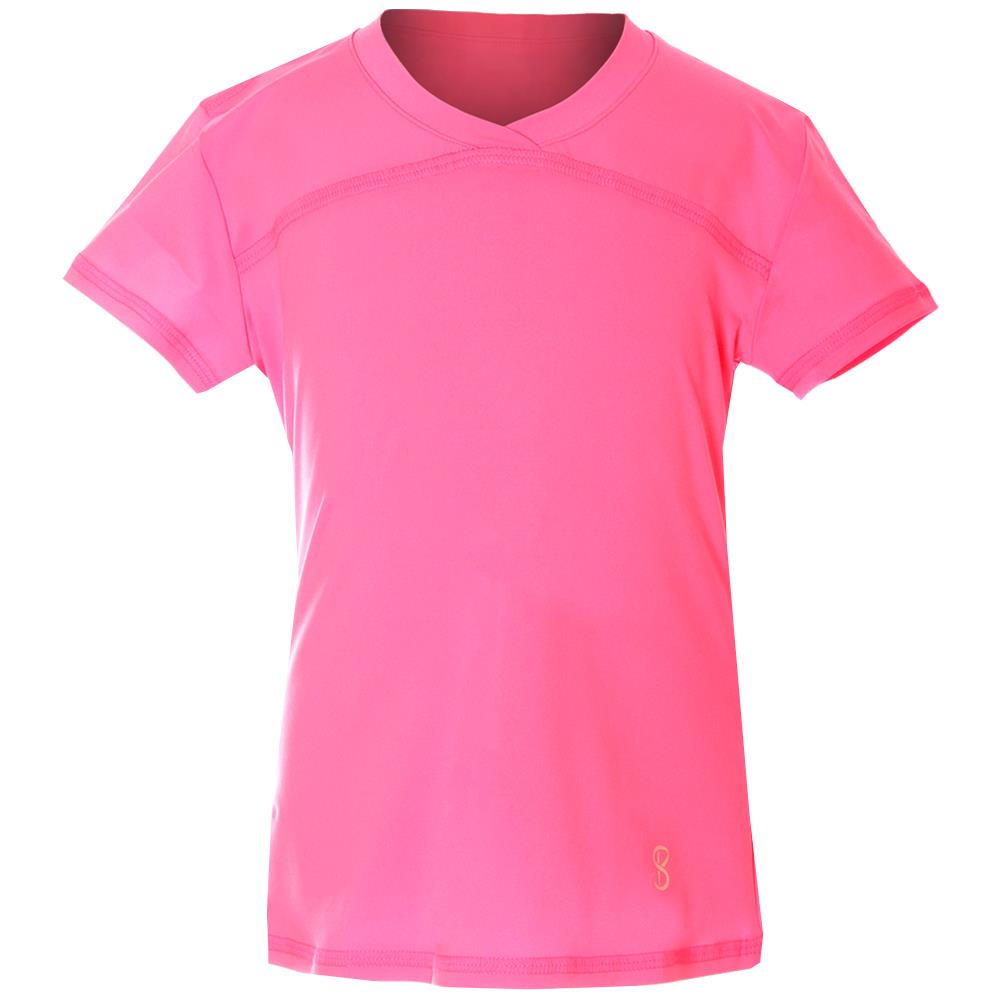 Sofibella Girls UV Colors Short Sleeve - Neon Pink