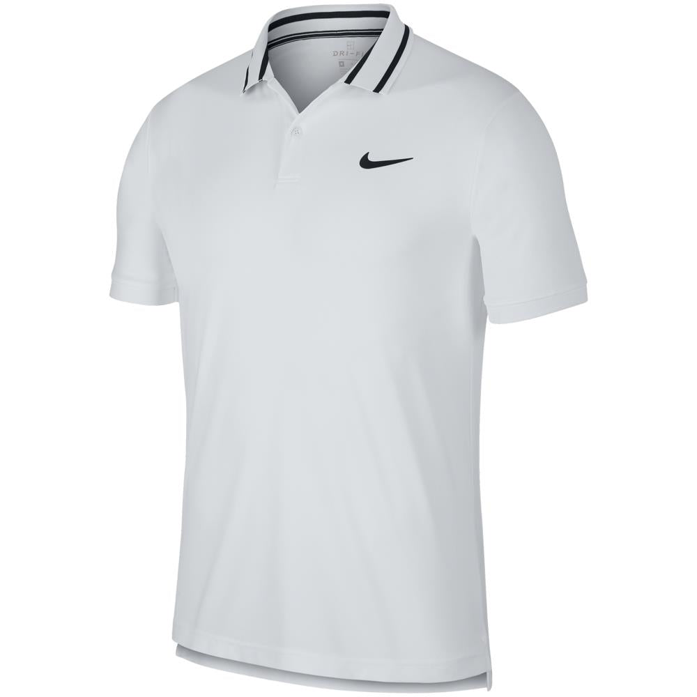 Nike Men's Court Dry Pique Polo - White/Black