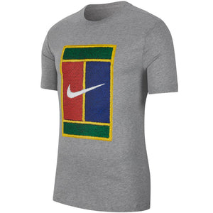 Nike Men's Heritage Court Tee - Dark Grey Heather