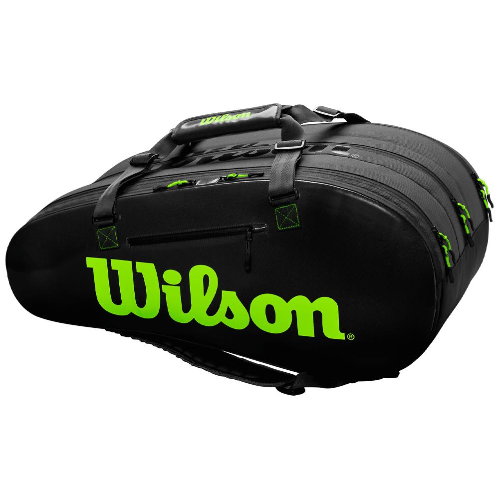 Wilson Super Tour 3 Compartment 15 Pack - Black/Green