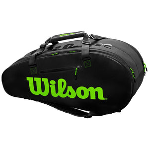 Wilson Super Tour 2 Compartment Large 9 Pack - Black/Green