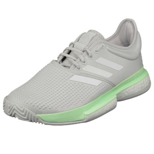 adidas Women's SoleCourt Boost - Glow Green/Grey One