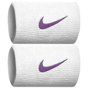 Nike Swoosh Premier DriFit Doublewise Wristband - White/Bright Violet