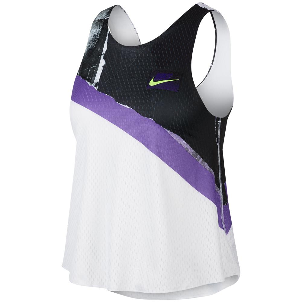 Nike Women's NY Graphic Tank - White/Psychic Purple