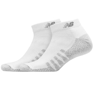 New Balance Unisex Cool Max Low Cut 2 Pack Socks - White