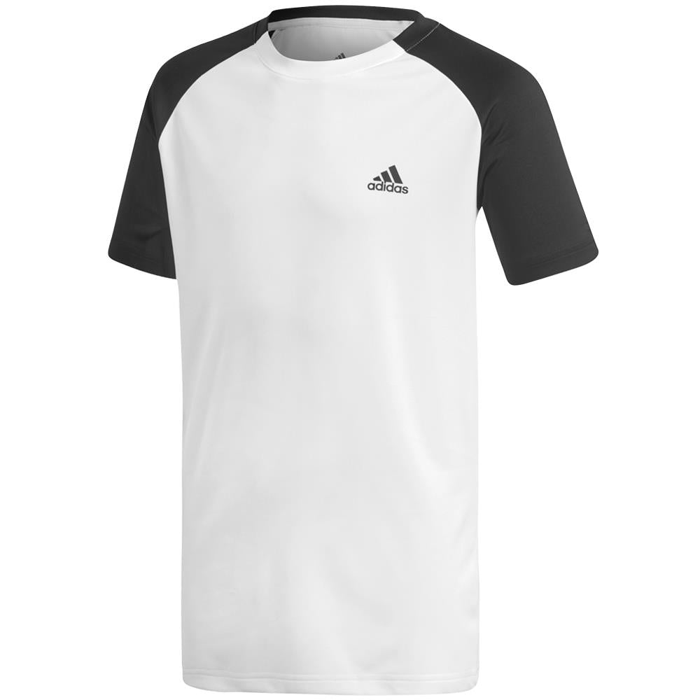 adidas Boys Club Tee - White/Black