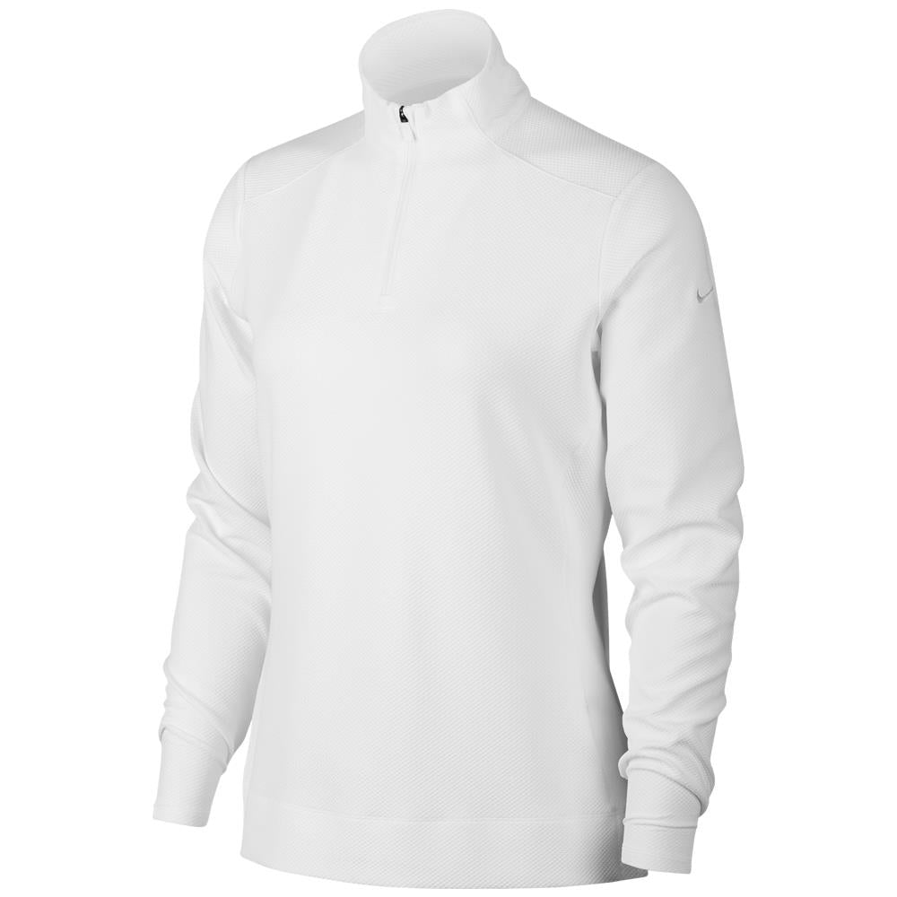 Nike Women's 1/4 Zip UV Longsleeve - White