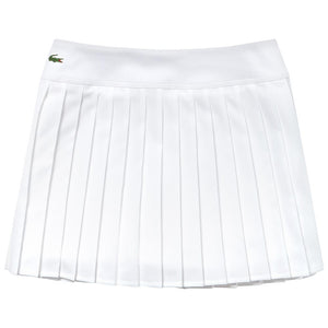 Lacoste Women's Sport Tech Pleat Skirt - White
