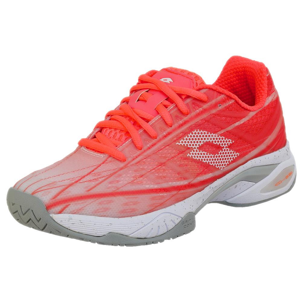 Lotto Women's Mirage 300 SPD - Fiery Coral/White
