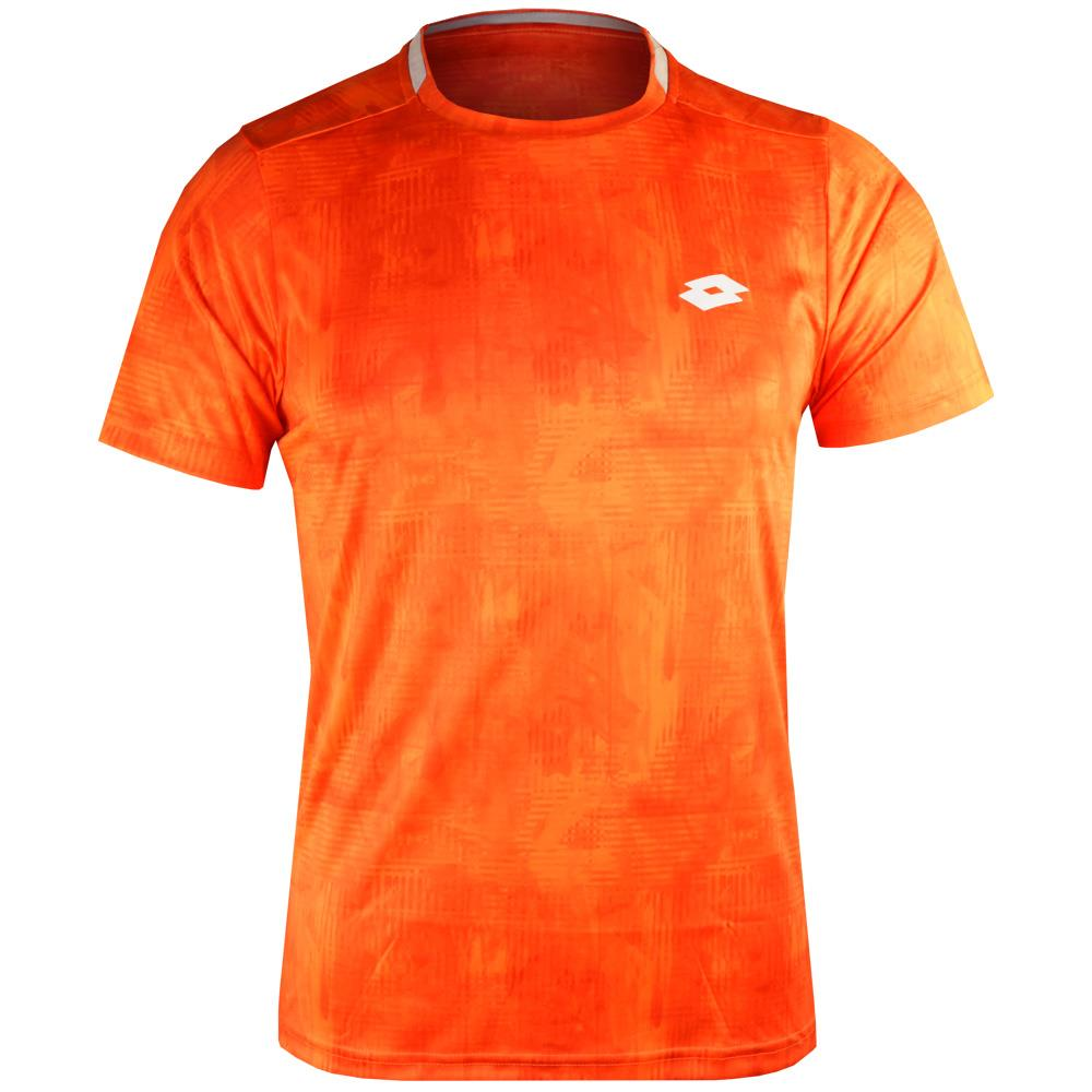 Lotto Boys Tech Top Ten Tee - Red Orange