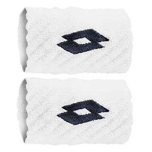 Lotto Wristband Tennis 2 Pack - White