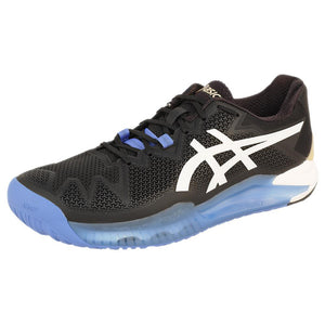 Asics Men's Gel-Resolution 8 - Wide Width 2E - Black/White