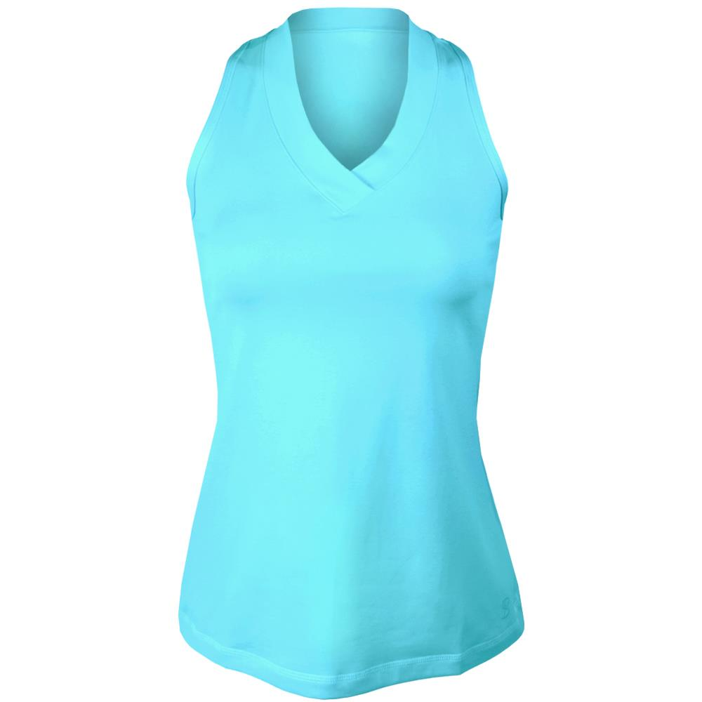 Sofibella Women's UV Colors Athletic Racerback Tank - Air