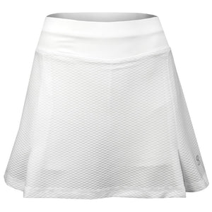 "Sofibella Women's Air Flow 13"" Skirt - White"