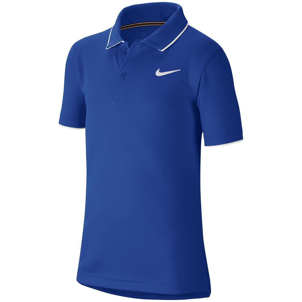 Nike Boys Team Polo - Game Royal/White