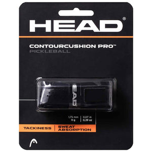 Head Contour Cushion Pickleball Replacement Grip - Black