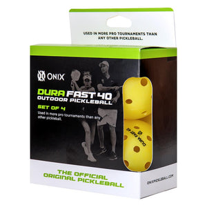 Onix Pickleball Dura Fast 40 Outdoor 4 Pack - Yellow