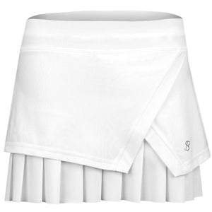 "Sofibella Women's Club Lux Diamond 14"" Skirt - White"