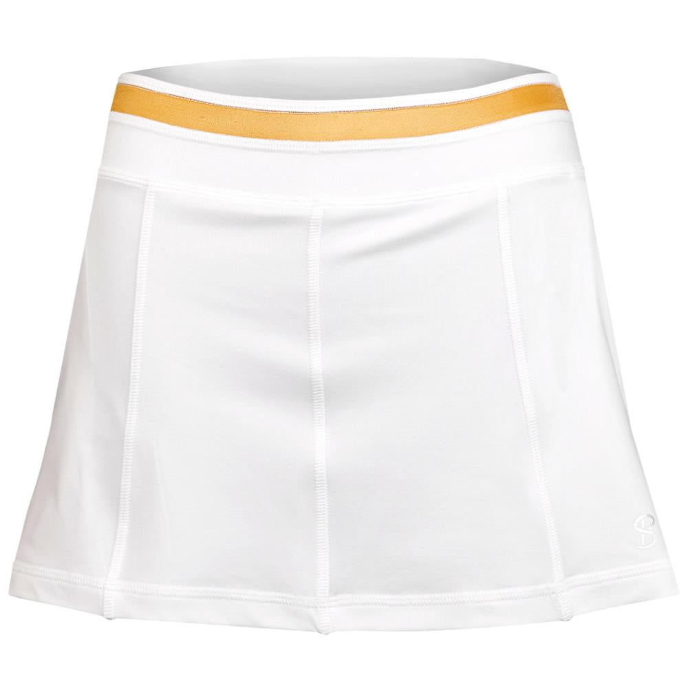 "Sofibella Women's Club Lux 13"" Skirt - White/Gold"