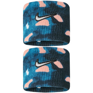Nike Swoosh Premier Graphic DriFit Wristbands - Valerian Blue/Washed Coral