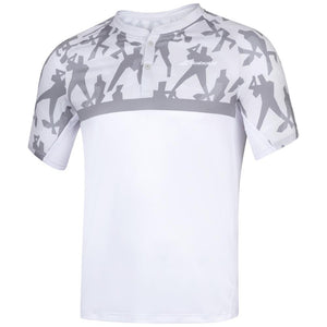Babolat Men's Compete Polo - White/Grey