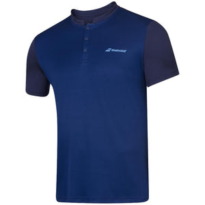 Babolat Men's Play Henley Polo - Estate Blue