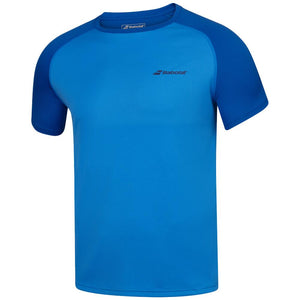 Babolat Boys Play Crew Neck Tee - Blue Aster