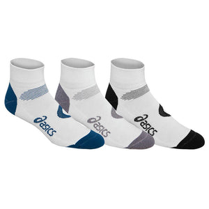Asics Intensity Quarter 3 Pack Socks - White/Multi Colour