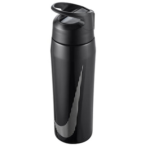 Nike Water Bottle SS Hypercharge Twist Straw 24 oz - Metallic Black