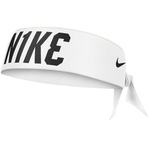Nike Dri Fit Head Tie 3.0 Printed Reversible - White/Black/Gold