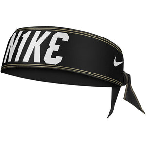 Nike Dri Fit Head Tie 3.0 Printed Reversible - Black/Gold/White