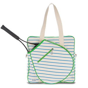 Ame & Lulu On Tour Tennis Bag - Natural/Green