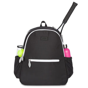 Ame & Lulu Courtside Tennis Backpack - Black