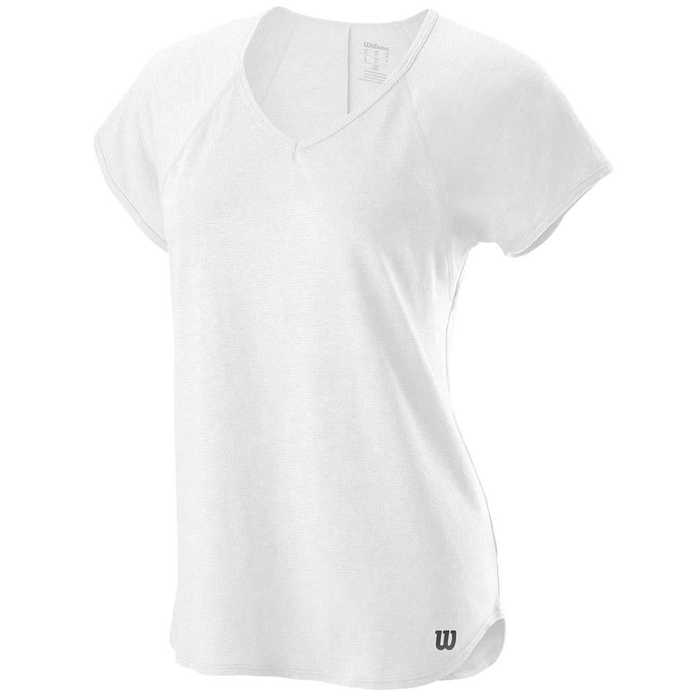 Wilson Women's V-Neck Training Tee - White