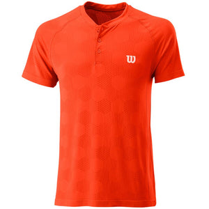 Wilson Men's Seamless Power Henley - Tangerine