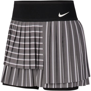 Nike Women's Slam Multipleat Skirt - Black/Light Carbon