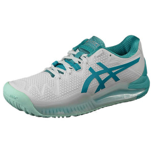 Asics Women's Gel-Resolution 8 - White/Lagoon