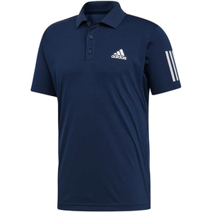adidas Men's Club 3 Stripe Polo - Collegiate Navy
