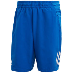 adidas Men's Club 3 Stripe Short - Royal Blue