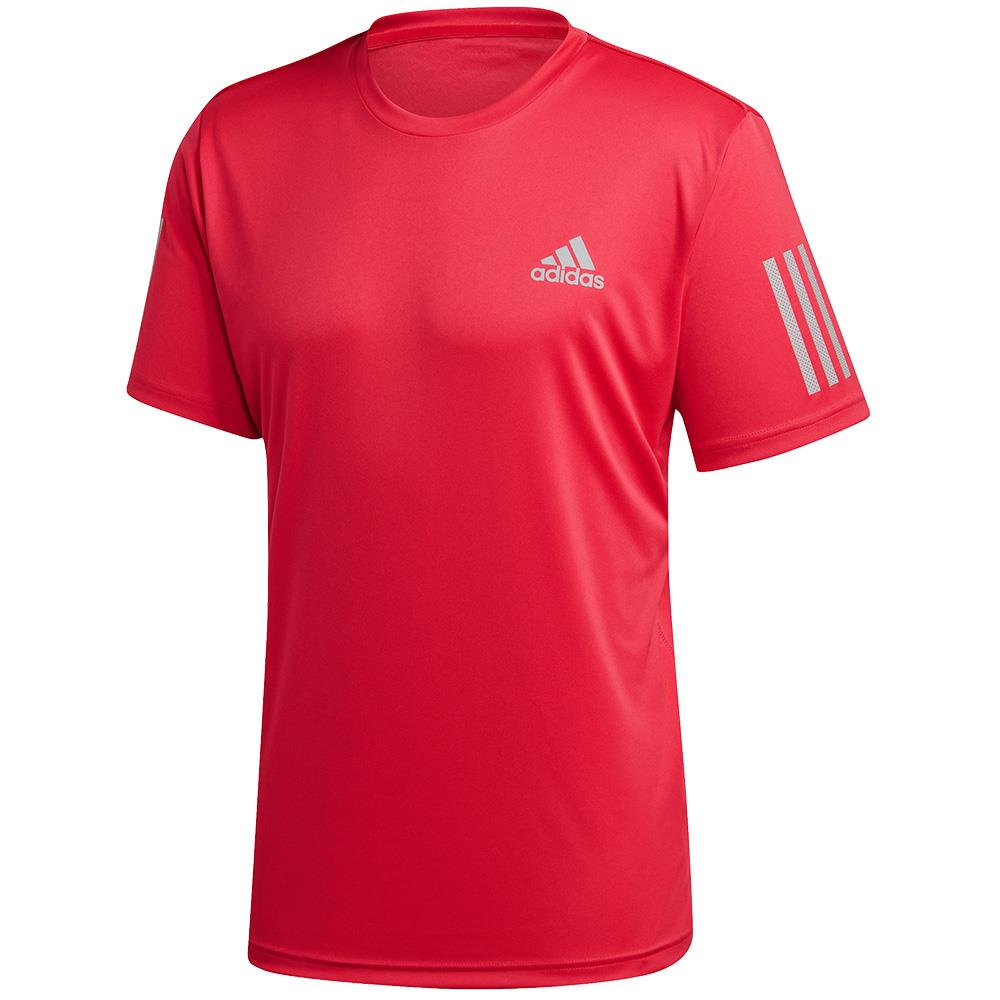 adidas Men's Club 3 Stripe Shirt - Power Pink