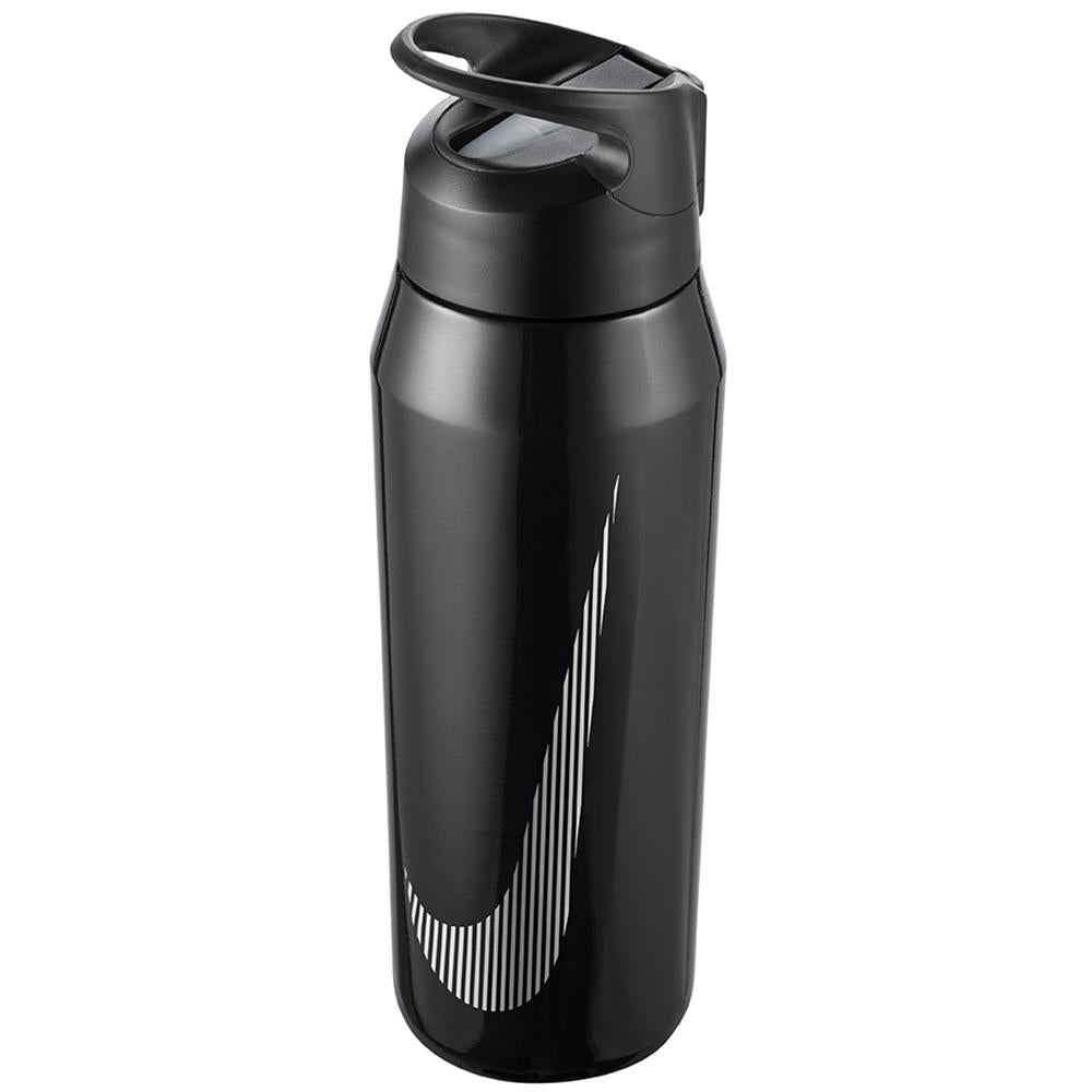 Nike Water Bottle SS Hypercharge Straw 32oz - Metallic Black