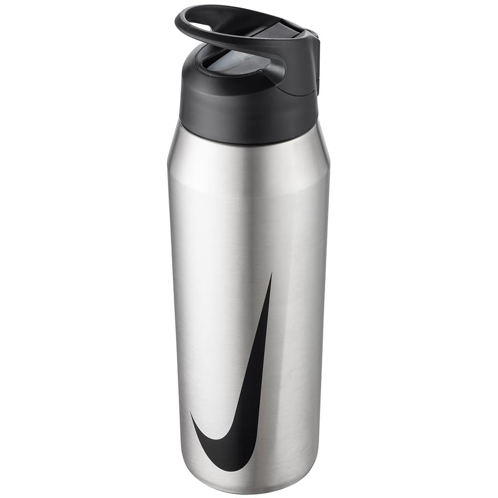 Nike Water Bottle SS Hypercharge Straw 32oz - Brushed Stainless Steel