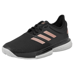 adidas Women's Solecourt Boost - Core Black/Copper Metallic