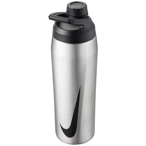 Nike Water Bottle SS Hypercharge Chug 24oz - Brushed Stainless Steel