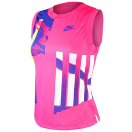 Nike Women's NY Slam Tank - Pink Foil/Hot Lime