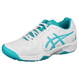 Asics Junior Gel-Resolution 8 GS - White/Lagoon