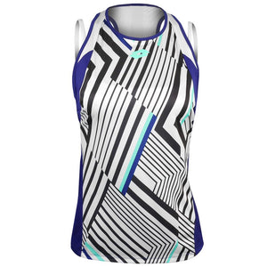 Lotto Women's Top Ten II Print Tank - Sodalite Blue