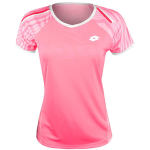 Lotto Women's Top Ten II Print Tee - Vivid Rose