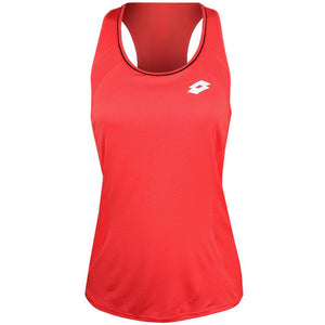 Lotto Women's Squadra Tank - Red Fluo